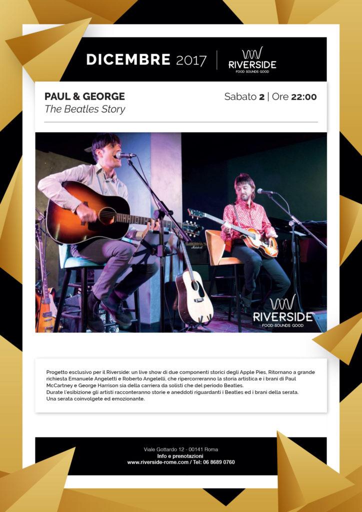 Le canzoni di Paul McCartney e George Harrison al Riverside