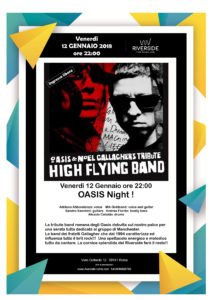 "Oasis Night al Riverside con la ""High Flying Band"""